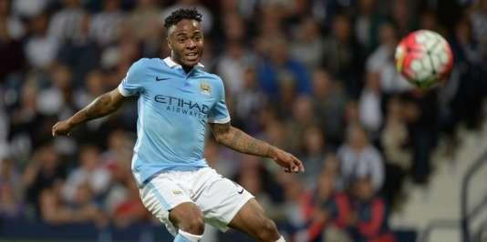 L'attaquant de Manchester City Raheem Sterling, joueur anglais le plus cher de l'histoire.