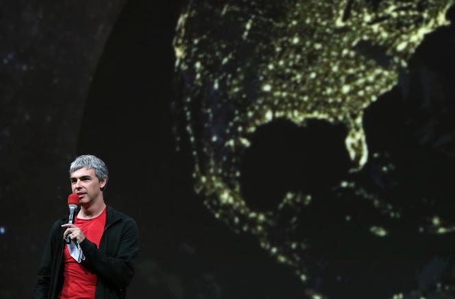 Le cofondateur de Google Larry Page, lors de la conférence I/O, le 15 mai 2013.