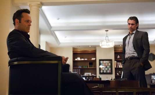 "Vince Vaughn (Frank Semyon) et Colin Farrell (Ray Velcoro) dans la saison 2 de ""True Detective"""