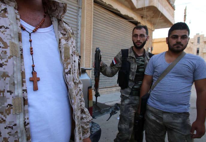 A la fin de mai, les forces kurdes ont chassé les djihadistes de l'Etat islamique de 14villages chrétiens assyriens qu'ils contrôlaient depuis février.