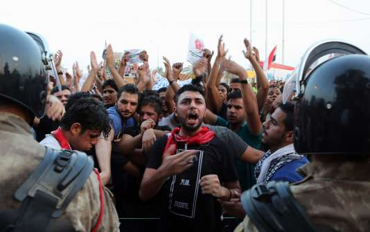 Manifestation à Bassora, le 7 août.