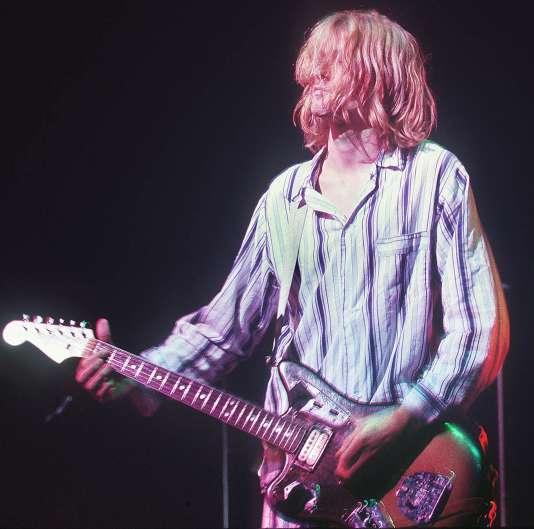 Le chanteur de Nirvana, Kurt Cobain, en 1992.