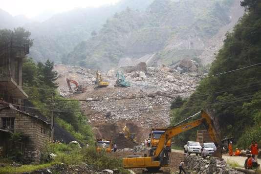 Sur le site minier de Shangluo, dans la province du Shaanxi.