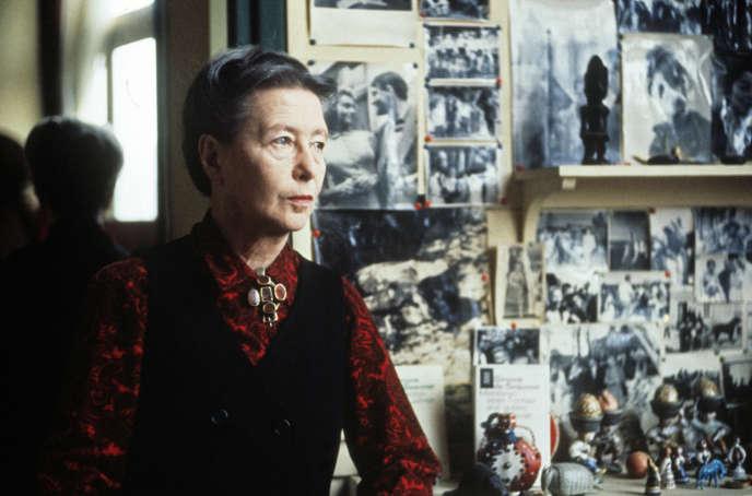 Simone de Beauvoir,  en juin 1972.