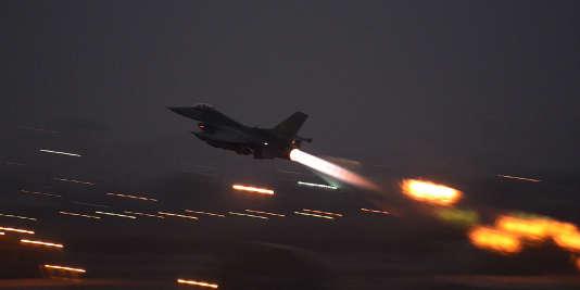 Un F-16 américain décolle de la base d'Incirlik en Turquie, le 12 août.