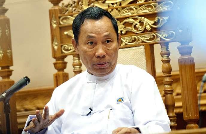 Shwe Mann, chef du parti et président du Parlement a fait les frais de semaines de tensions entre lui et le président birman Thein Sein.