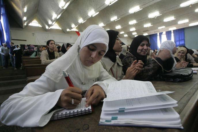 Des étudiants marocains à l'Université Hassan II, un des rares établissements francophones qui figurent dans le classement.