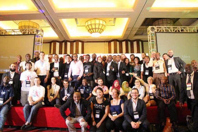 Les finalistes du DEMO Africa 2014. Les lauréats ont pu lever des fonds pour développer leur start-up.