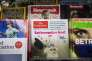 Le magazine The Economist au milieu d'autres publications, le 12 août à Londres.