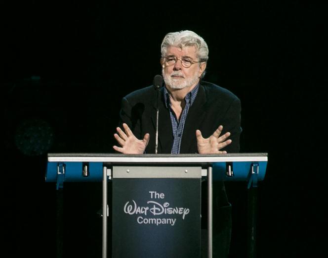 George Lucas recevant le prix Disney Legends le 14 août 2015 à Anaheim en Californie.