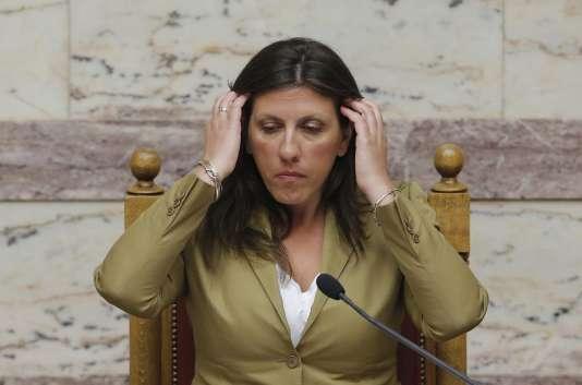 La présidente du Parlement, Zoé Konstantopoulou, membre de Syriza mais farouchement opposée au plan.