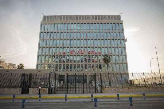 Le bâtiment de l'ambassade des Etats-Unis à La Havane, le 27 juillet 2015.