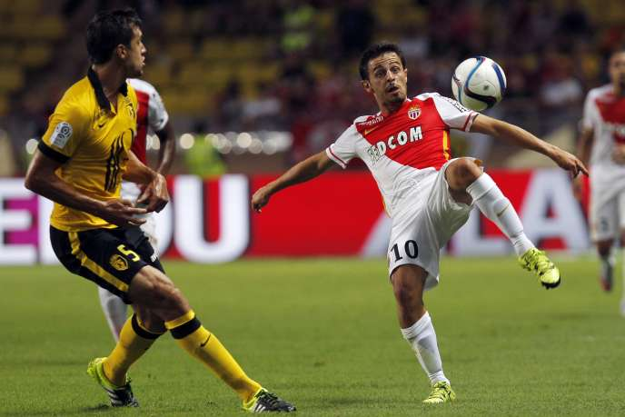 Le milieu portugais de l'ASM Bernardo Silva, l'un des protégés de l'agent Jorge Mendes, le 14août, contre Lille.