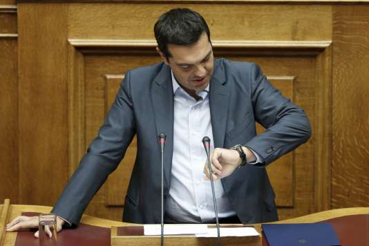 Alexis Tsipras, à Athènes, le 14août.