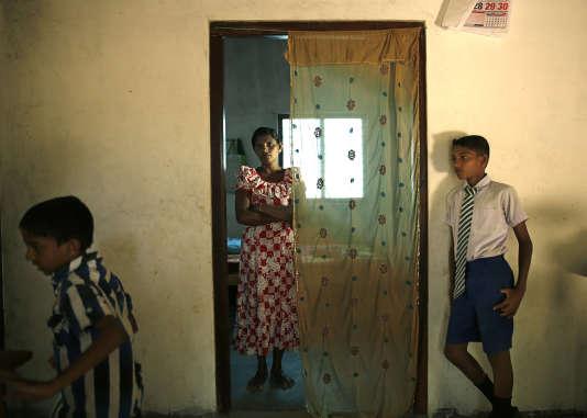 P. Gauri, chez elle, le 13 août à Killinochi.