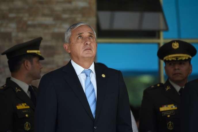 Le président du Guatemala, Otto Pérez Molina, à Guatemala City, le 14 août.