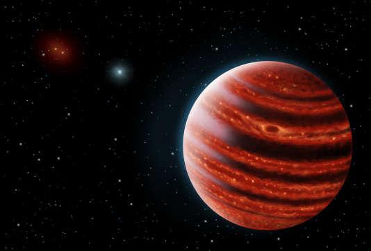 Vue d'artiste de l'exoplanète 51 Eridani b.