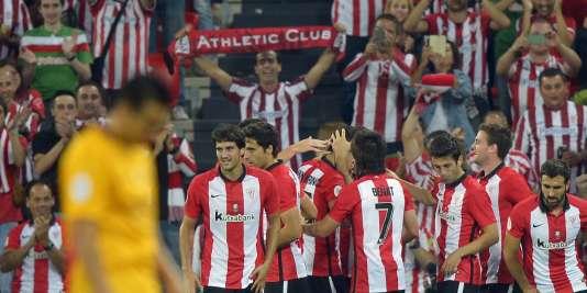 Bilbao a battu le Barça 4 à 0 en match aller de la Supercoupe d'Espagne, le 14août.