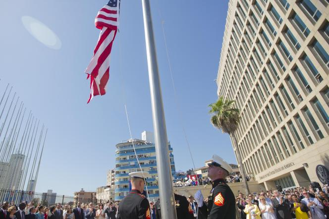 La réouverture de l'ambassade des Etats-Unis à La Havane, le 14 août 2015.