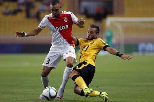 Le latéral gauche de Monaco Layvin Kurzawa (à gauche), buteur contre Nice le 14août, va s'engager avec le PSG ce mercredi 26.