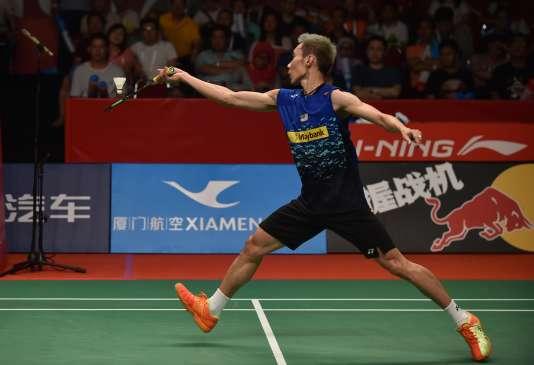 Lee Chong Wei a battu le Danois Jan O.Jorgensen pour se qualifier en finale des Mondiaux de badminton.