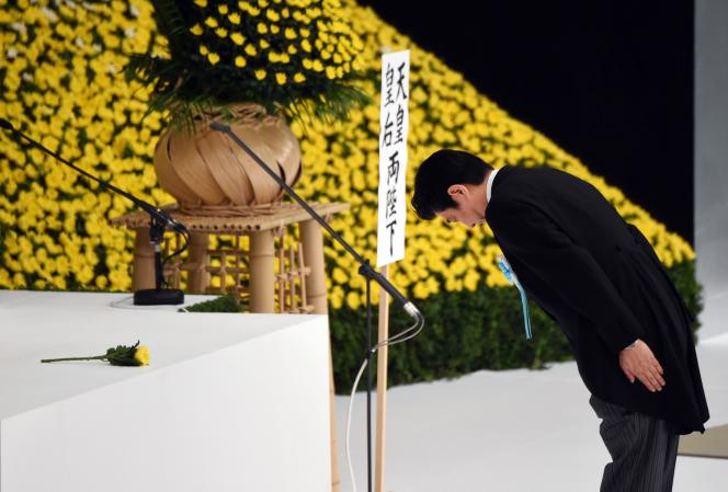Shinzo Abe, le 15 août, à Tokyo.