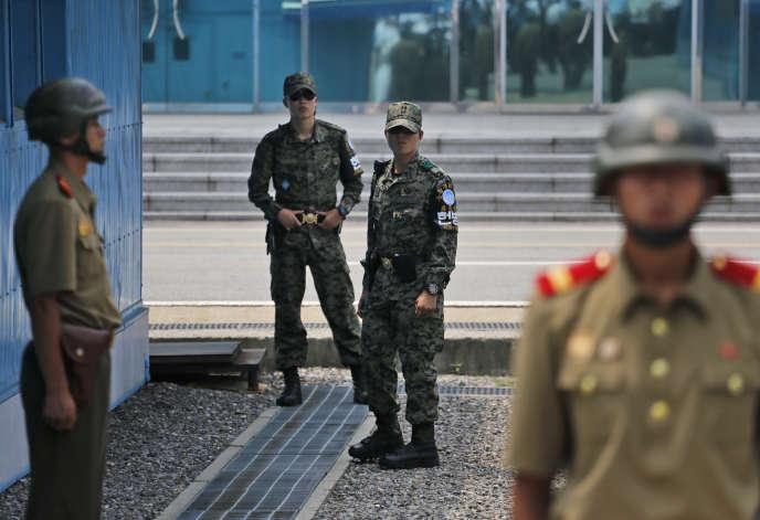 Le 15 août, à la frontière entre les deux Corées.