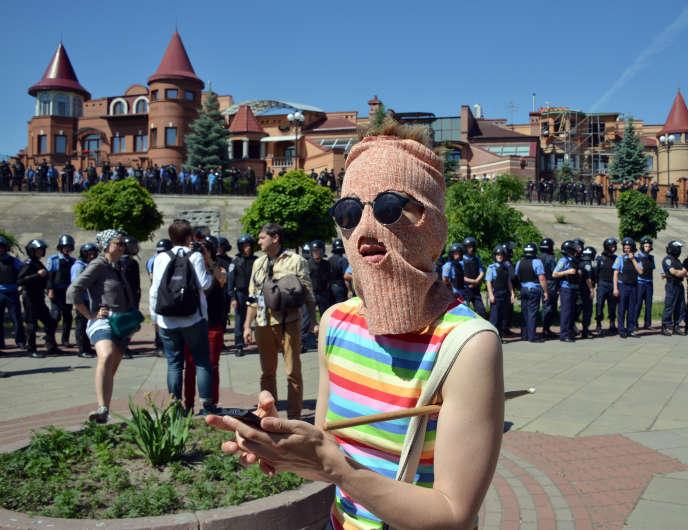 La Gay Pride de Kiev, en juin, s'était achevée dans la violence, avec 25interpellations.