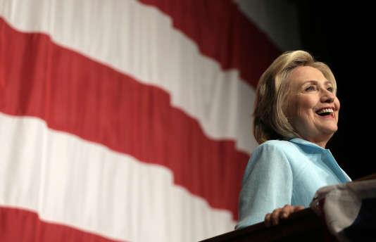 Hillary Clinton, le 14 août, dans l'Iowa.