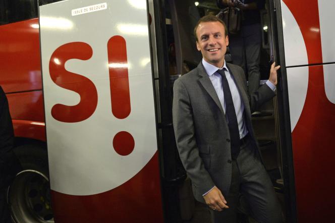 Le ministre de l'économie Emmanuel Macron le 31 juillet.
