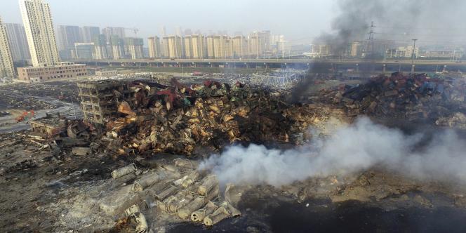 A Tianjin, le 15août.