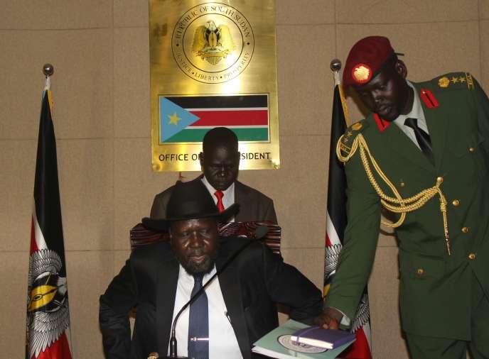 Le President du Soudan du Sud Salva Kiir, le 16 août 2015 à Juba.