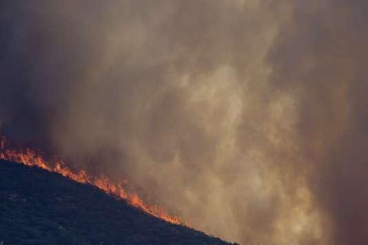 C'est la première fois depuis 2006 que du personnel militaire fédéral est mobilisé contre les feux qui ravagent la Californie.