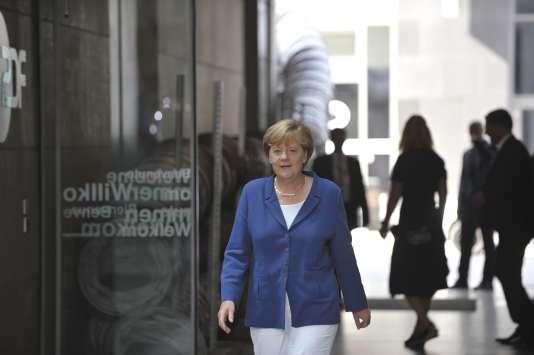 Angela Merkel, le 16 août à Berlin.