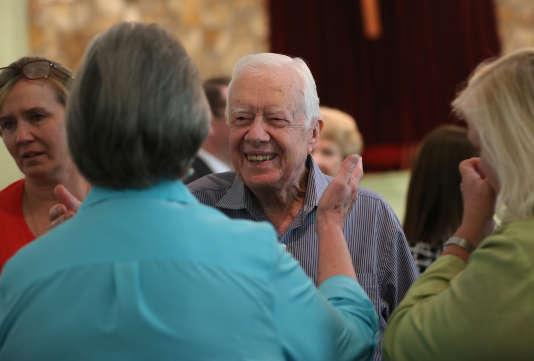 Jimmy Carter, le 16 août. (Ben Gray/Atlanta Journal-Constitution via AP)