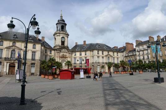 La place de la Mairie, à Rennes.