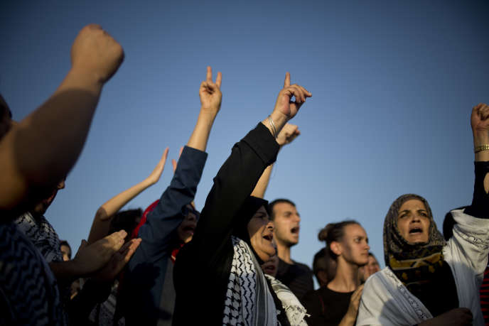 Un rassemblement s'est tenu devant l'hôpital d'Ashkelon dimanche 16 août pour protester contre la détention administrative de Mohammed Allan.