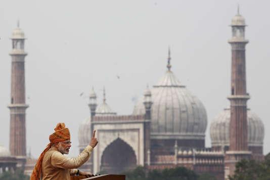 Narendra Modi, le 15 août à New Delhi.