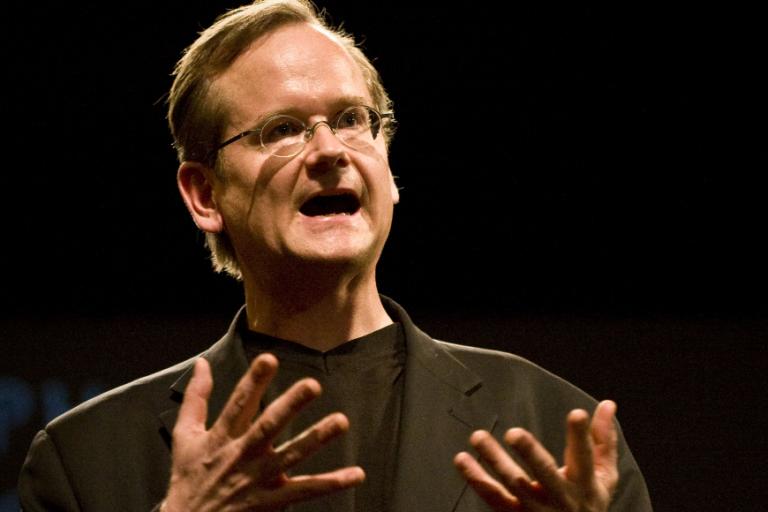 Lawrence Lessig était jusqu'ici connu pour être l'un des plus grands spécialistes américain des questions de copyright sur Internet.