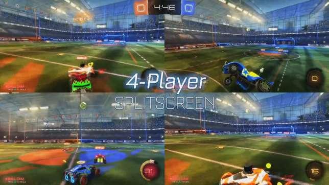 """Les développeurs de Rocket League ne s'y sont pas trompés : le jeu à quatre sur un même écran est l'une des options phare de ce vrombissant jeu de """"football mécanique""""."""
