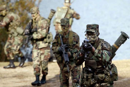 Un entraînement de rangers de l'armée américaine, en 2002.