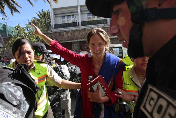 Manuela Picq à Quito en Equateur le 17 août 2015.