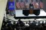 Barack Obama, pendant un discours à propos de l'accord avec l'Iran, à l'American University de Washington, le 5août.
