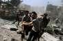 Le marché de Douma (Syrie) avait déjà été bombardé par les forces gouvernementales le 12août.