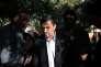 Mahmoud Ahmadinejad à la sortie de son domicile à Téhéran le 3 août.