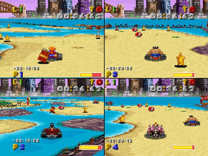 En 1994, Street Racer, un jeu de course inspiré de Super Mario Kart et Street Fighter, permettait  de concourir jusqu'à quatre sur le même écran. Vingt ans plus tard, l'option est devenue rare.