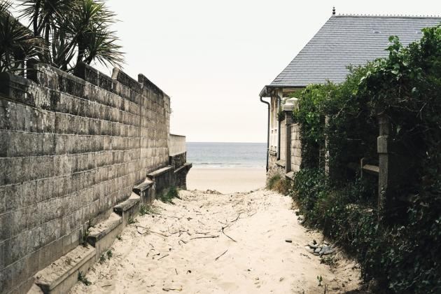 La plage d'Urville-Nacqueville.