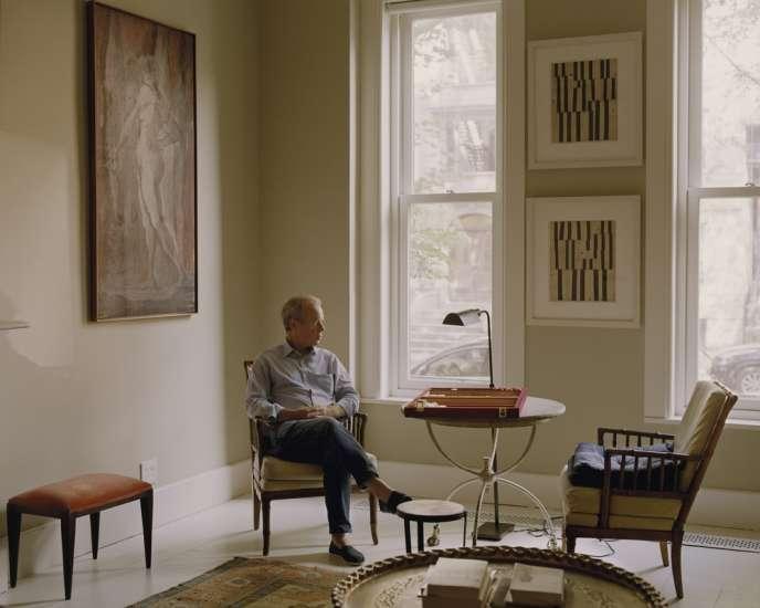 Martin Amis photographié chez lui, à Brooklyn, le 21 juillet 2015.