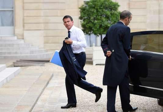 Manuel Valls le 18 août à l'Elysée.