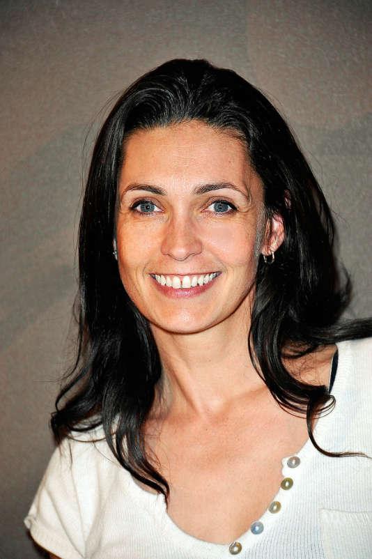 Adeline Blondeau lors de l'inauguration du Café Magnum, le 29 mai 2012, à Paris.